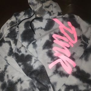 Pink tie dye crop sweatshirt